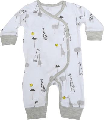 KABOOS Baby Boy's White Sleepsuit