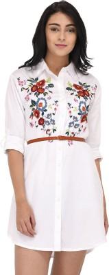 Raaika Women Shirt White Dress
