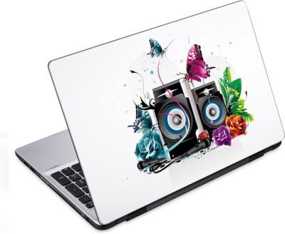 ezyPRNT Loud Speakers Music F  14 to 14.9 inch  Vinyl Laptop Decal 14