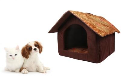 ROYAL PET Designer Print Foldable Velvet Fabric Pet House (48x45x45cm) Dog House