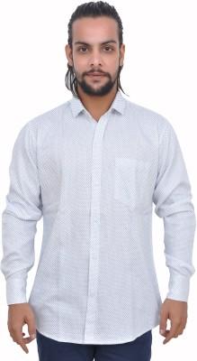 Gloria Shirts Men's Printed Casual White Shirt