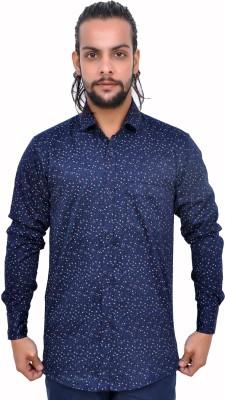 Gloria Shirts Men's Printed Casual Blue Shirt