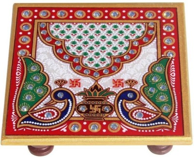AgesArtIndia Ages Art Marble Decorative Small chowki showpiece  -  4 cm(Marble, Multicolor)  available at flipkart for Rs.99