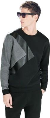 Stand Out Full Sleeve Self Design Men Sweatshirt