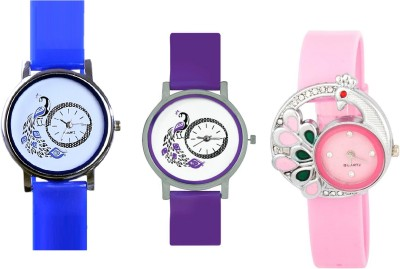 INDIUM NEW PEACOCK PS0598PS FANCY DIFFERENT DESIGN WATCH Watch  - For Girls   Watches  (INDIUM)