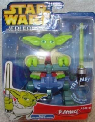 Playskool Star Wars Jedi Force Figure Yoda With Swamp Stomper(Multicolor)