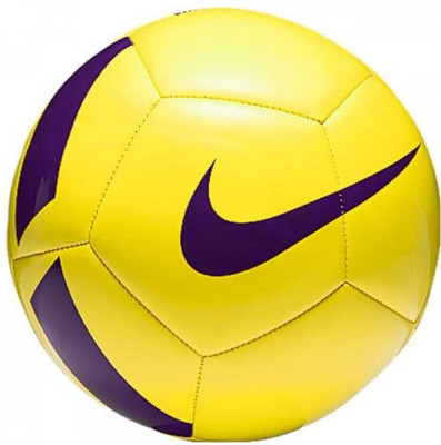 Nike Pitch Team Football   Size: 5 Pack of 1, Purple, Yellow Nike Footballs