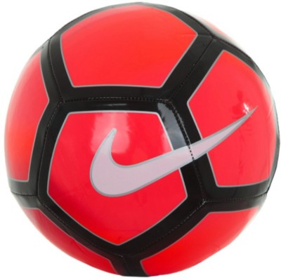 Nike Pitch Football - Size: 5(Pack of 1, Red, Black)