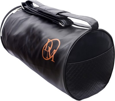 Dee Mannequin Black Leather Rite Gym Bag Black Dee Mannequin Duffel Bags