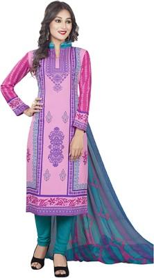 Drapes Crepe Printed Salwar Suit Material Unstitched