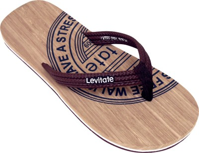 Levitate Boys & Girls Slip On Slipper Flip Flop(Brown)