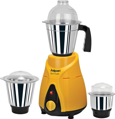 Jaipan JBU-05 750 Watts Buttler Mixer Grinder, Yellow & Black