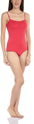 Bwitch Women's Solid Red Night Suit Set