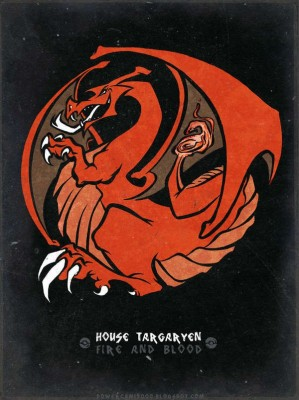 House Targaryen - Fire and Blood - Game of Thrones Poster - Posters for Home & Office Fine Art Print(18 inch X 12 inch)  available at flipkart for Rs.185