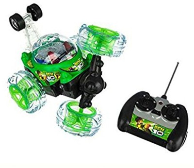 TamBoora BEN 10 Stunt Car With Remote Control Music Lights Cross Over Fun To Play [assorted colour] IDEAL FOR GIFT TO NAUGHTY BOYS(NA)