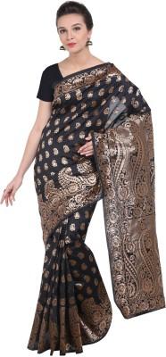 The Fashion Outlets Self Design, Plain Kanjivaram Cotton, Silk Saree(Beige, Maroon)