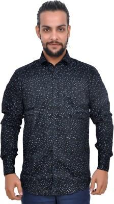 Gloria Shirts Men's Printed Casual Black Shirt