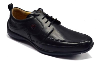 Red Chief Leather Boat Shoes For Men (Black)