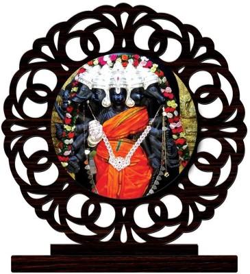 Crazyink panchamukhi hanuman black Showpiece  -  10 cm(Wooden, Multicolor)  available at flipkart for Rs.349