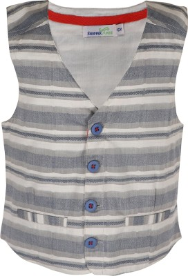 ShopperTree Striped Girls Waistcoat at flipkart