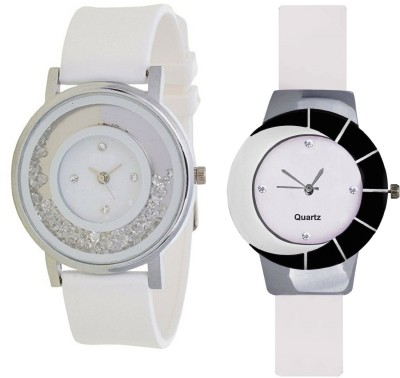 INDIUM NEW MOVABLE DIAMOND AROUND CIRCLE OF THE WATCH WITH WHITE LATEST COMBO WATCH Watch  - For Girls   Watches  (INDIUM)