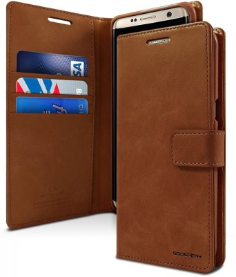 Vodex Flip Cover for Samsung Galaxy S8(Brown, Dual Protection)