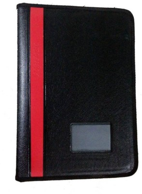 ART ME Leather Document Bag(Set Of 1, Black, Red)  available at flipkart for Rs.244