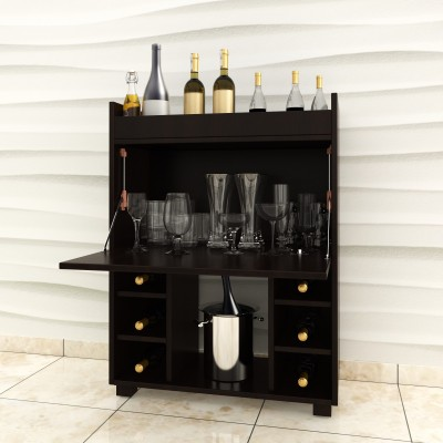 Crystal Furnitech Moet Engineered Wood Bar Cabinet(Finish Color - Dark Elm)