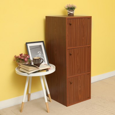 Home Full Aston Engineered Wood Free Standing Cabinet(Finish Color - WENGE)