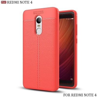Wow Imagine Back Cover for Mi Redmi Note 4 Red, Silicon