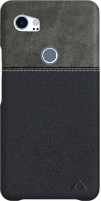Stuffcool Back Cover for Google Pixel 2 XL(Grey / Black, Grip Case, Artificial Leather)