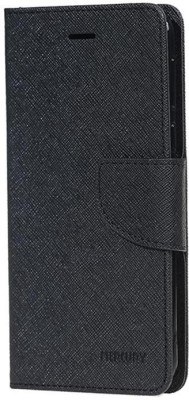 Close2deal Flip Cover for Motorola Moto E3 Power(Black, Artificial Leather)