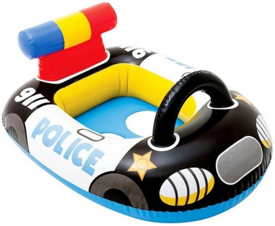 Kiditos Inflatable Kiddie Water Float Ring Cruiser Police Car Shape Inflatable Pool Accessory(Multicolor)
