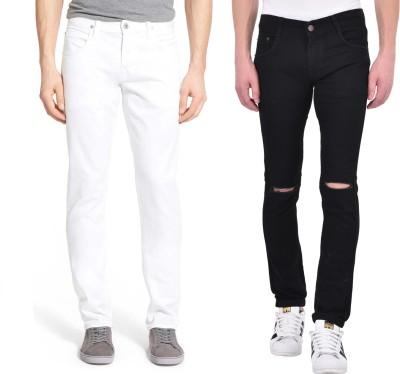Ansh Fashion Wear Slim Men Multicolor Jeans(Pack of 2)