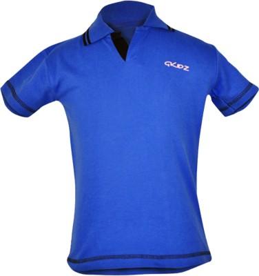 Gkidz Boys Solid Cotton T Shirt(Blue, Pack of 1) Flipkart