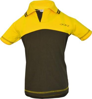 Gkidz Boys Solid Cotton T Shirt(Green, Pack of 1) Flipkart
