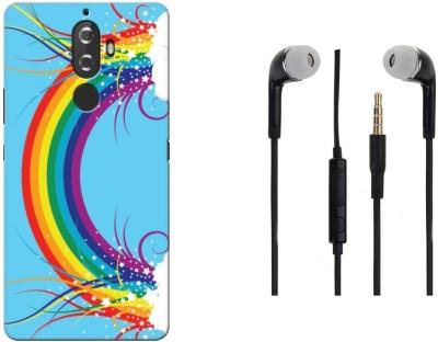 Coberta Case Headphone Accessory Combo for Lenovo K8 Plus(Rainbow Design)