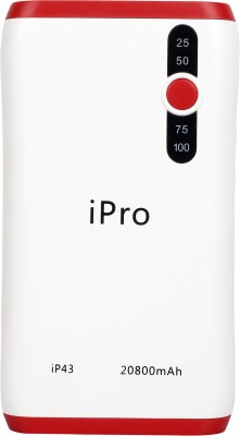 Ipro 20800 MAH Power Bank (Lithiunm-ion, IP43)(Red, Lithium-ion)