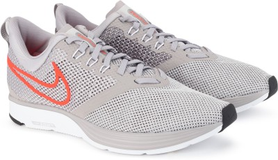 Nike ZOOM STRIKE Running Shoes For Men(Grey) 1