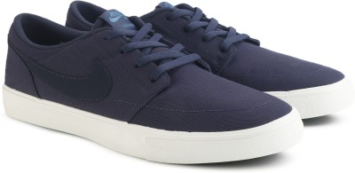 Nike SB PORTMORE II SOLAR CNVS Sneakers For Men(Blue) 1