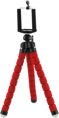 Lifestyle-You Adjustable Flexible Mini Portable Tripod Stand with Universal Smartphone Clip Holder Tripod(Red, Supports Up to 500 g) 1