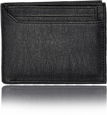 Accezory Men Black Artificial Leather Wallet 7 Card Slots