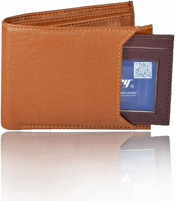 Accezory Boys Tan Artificial Leather Wallet 7 Card Slots