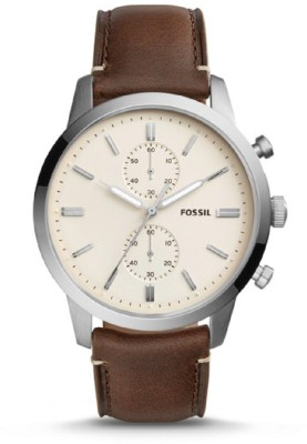 Fossil FS5350 Townsman Cream Dial Men's Chronograph Watch Watch  - For Men (Fossil) Delhi Buy Online