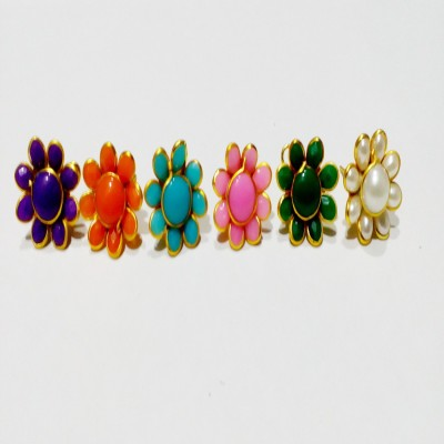 Valuebuy Flower Studs Combo - A set of Different Colours