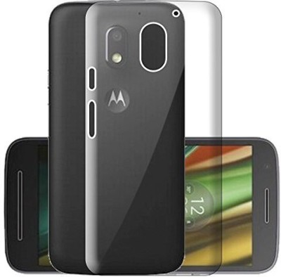 Power Back Cover for Motorola Moto E3 Power(Transparent, Silicon, Rubber)