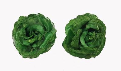 Majik Hair Flower Accessories For Weddings(Green) Hair Clip(Green) Flipkart