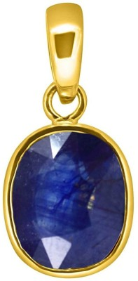 Tejvij and sons 5.25 Ratti Original Blue Sapphire Neelam Ashthadhatu Pendent for Men & Women Gold Plated Gold-plated Sapphire Metal Pendant
