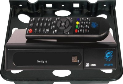 Thrive Amazing Heavy Plastic Body Set Top Box Stand | Set Top Box Tray for Living Room & Bedroom Plastic Wall Shelf(Number of Shelves - 1)  available at flipkart for Rs.138