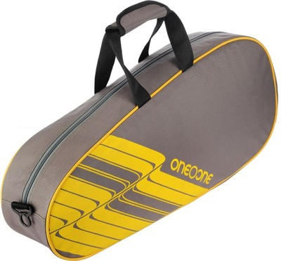 One O One Lines Collection Single Grey   Badminton / Tennis Kitbag Badminton Kitbag